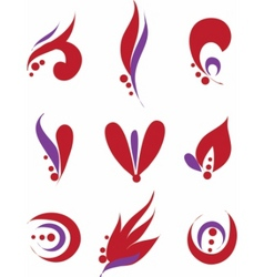 set different abstract symbols for design vector image