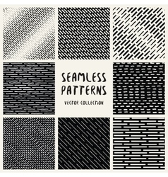 Set Geometric Seamless Pattern vector image