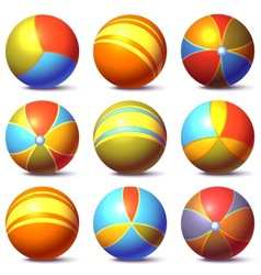 Set of children balls vector