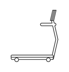 single treadmill icon vector image