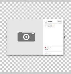 social network photo frame vector image