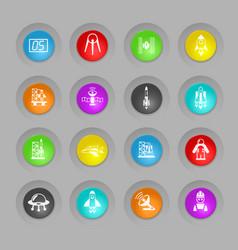 Spacecrafts icon set vector