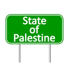 State of Palestine road sign vector