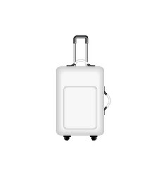 Travel suitcase in black and white design vector