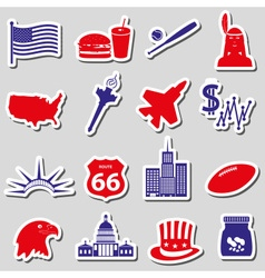 United states of america country theme stickers vector
