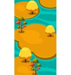Vertical landscape autumn islands vector