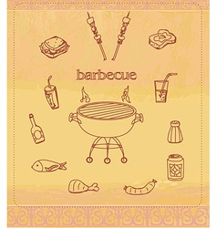 Vintage Barbecue Party Invitation vector image