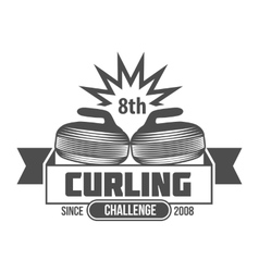 vintage curling labels and design elements vector image