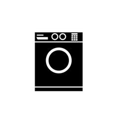 washing machine icon bathroom and sauna element vector image