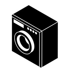 washing machine icon simple style vector image