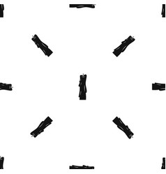 Wax candle pattern seamless black vector