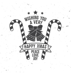 Wishing you very happy Xmas Typography design vector
