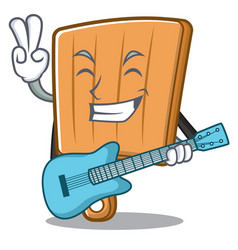with guitar kitchen board character cartoon vector image