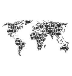 world atlas collage of open book icons vector image