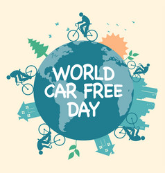 world car free day icon vector image