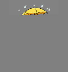 young woman is enjoying rainy weather vector image
