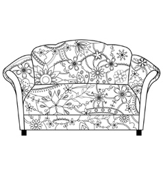 couch coloring vector image vector image
