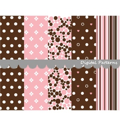 Digital patterns scrapbook set vector image