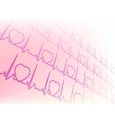 electrocardiogram waveform vector image