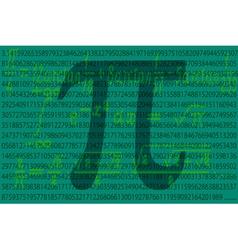 Pi number vector image