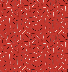 Red hand drawn xmas seamless pattern with lines vector image