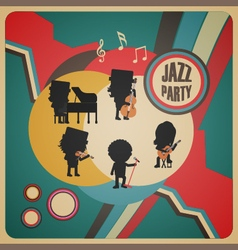 274abstract jazz band poster vector image