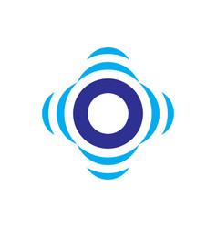 abstract circle sensor logo image vector image