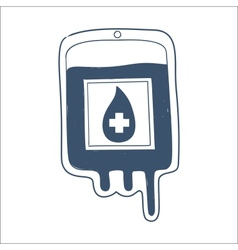 Blood bag isolated on white vector image vector image