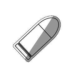 isolated bullet gun vector image vector image