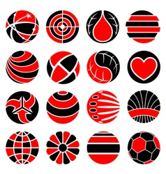 round abstract icons vector image vector image