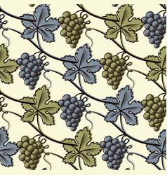 seamless pattern of green and blue grape vector image vector image