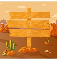Wild west poster vector image vector image