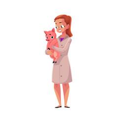 woman female veterinarian doctor vet in medical vector image vector image
