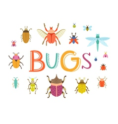 Bugs vector image vector image