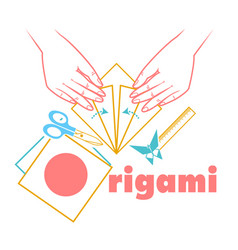 logo for classes origami vector image vector image