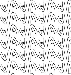 patterns of white and black wave geometry vector image vector image