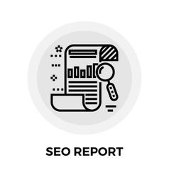 SEO Report Line Icon vector image vector image