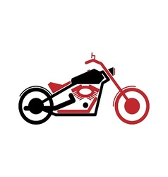 Simple motorcycle in black and red color vector image vector image