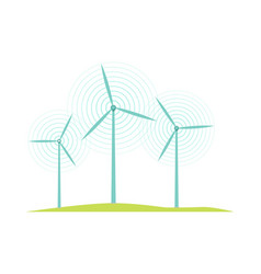 windmill icons isolated on white flat design style vector image vector image