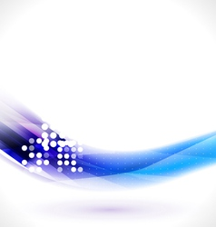 Abstract flow blue line for technology vector image vector image