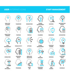 business and staff management vector image vector image