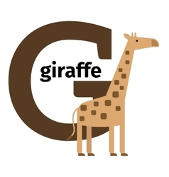 English animals zoo alphabet letter G vector image vector image