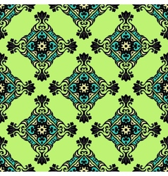 Green geometric seamless abstract vector image vector image