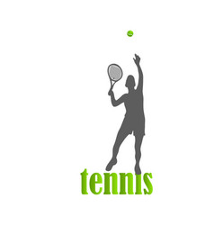 tennis woman isolated vector image