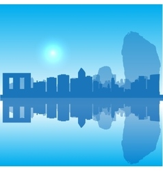 Thailand silhouette skyline vector image vector image