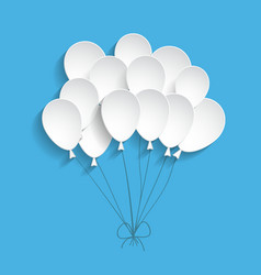 white paper balloons vector image