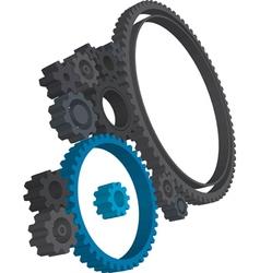 3d cogwheels vector image