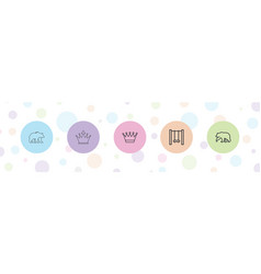 5 ornate icons vector