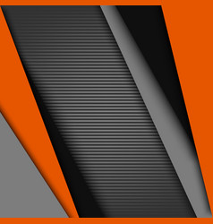 Abstract background with black gray orange design vector