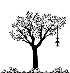 Antique ornament of a tree vector image